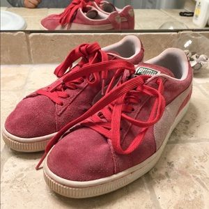 Red Suede Puma Sneakers